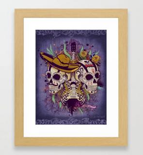 """Impresión enmarcada """"Día de Muertos"""" / Day of the dead Framed Art Print"""