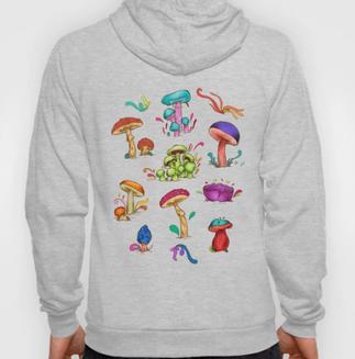 """Sudadera """"Hongos"""" / Mushrooms Hoody"""