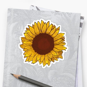 Stickers Girasol / Sunflower