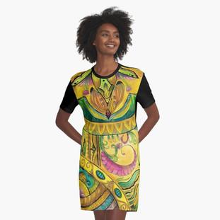 Baroque Organic Graphic T-Shirt Dress