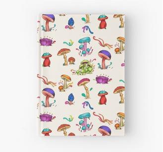 "Agenda de pasta dura ""Hongos"" /Mushrooms Hardcover Journal"