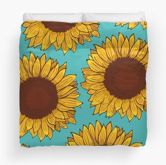 """Colcha """"Girasol"""" / Sunflower Duvet Cover"""