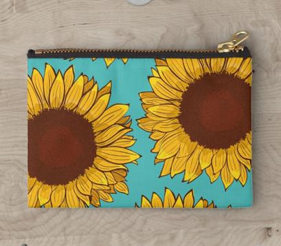 Bolsa con cierre de Girasol / Sunflower Zipper Pouch
