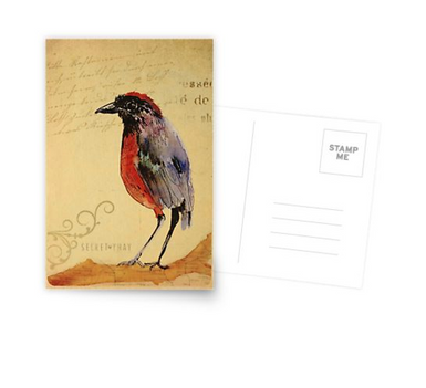"Postal ""Ave 1"" / Bird 1 Postcard"