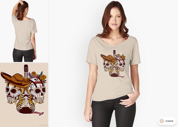 "Playera ""Día de Muertos"" / Day of the dead Fit T-Shirt"