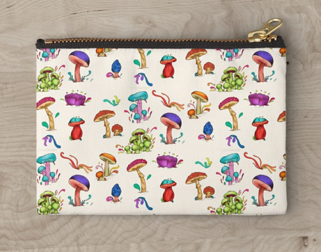 "Bolso de mano ""Hongos"" / Mushrooms Studio Pouche"