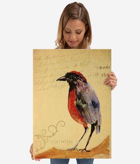 "Poster de metal ""Ave 1"" / Bird 1 Metal Poster"