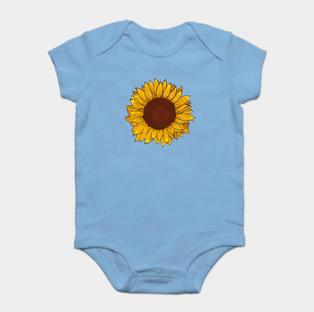 Bodie para bebe de girasol / Sunflower baby Bodie