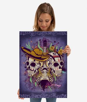 """Poster de metal """"Día de Muertos"""" / Day of the dead metal poster"""