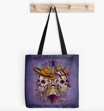 """Tote Bags """"Día de Muertos"""" / Day of the dead Tote Bags"""