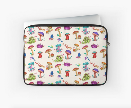 "Funda para Laptop ""Hongos""/ Mushrooms Laptop Sleeve"