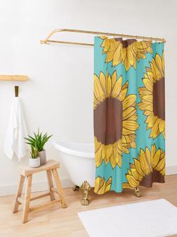 Cotina para baño de Girasol / Sunflower Shower Curtain
