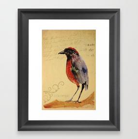 "Impresión enmarcada ""Ave 1"" / Bird 1 Framed Art Print"