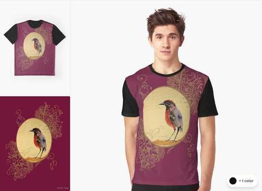 "Playera ""Ave 1"" / Bird 1 Graphic T-Shirt"