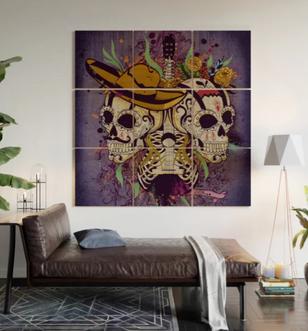 "Impresión en madera ""Día de Muertos"" / Day of the dead Wood Wall Art"