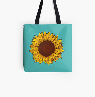 Sunflower Tote Bag (style 1)
