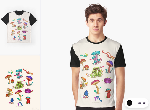 "Playera ""Hongos"" / Mushrooms Graphic T-Shirt"