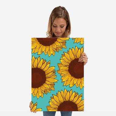 Poster de Girasol hecho de metal / Sunflower poster made out of metal