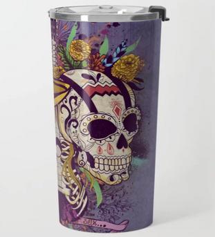 """Termo""""Día de Muertos"""" / Day of the dead Travel Mug"""