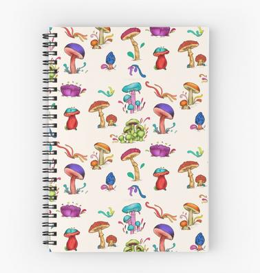 "Cuaderno de espiral ""Hongos"" / Mushrooms Spiral Notebook"