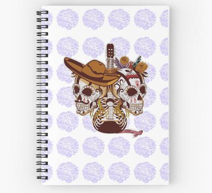 """Libreta de espiral """"Día de Muertos"""" / Day of the dead Spiral Notebooks"""