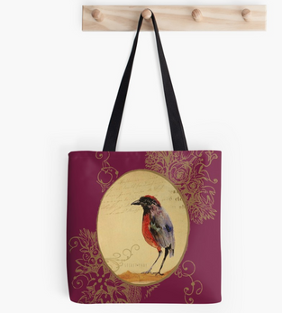 """Tote Bags """"Ave1"""" / Bird 1 Tote Bags"""