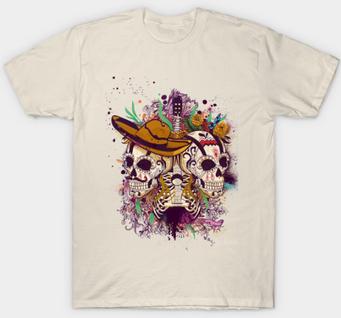 "Playera sencilla ""Día de Muertos"" / Day of the dead T-Shirt"