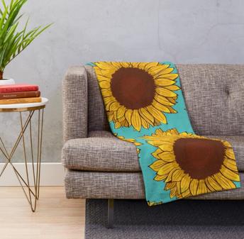Cobija de Girasol / Sunflower Throw Blanket