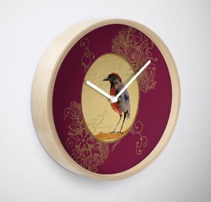 "Reloj de pared ""Ave 1"" / Bird 1 Clock"