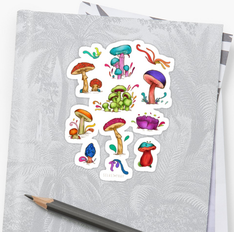 Mushrooms Stickers
