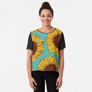 Blusa de Girasol / Sunflower Chiffon Top