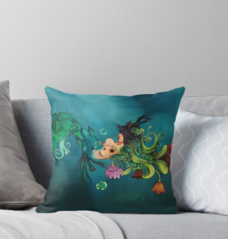 "Cojín ""Metamorfosis"" / Metamorphosis Throw Pillow"