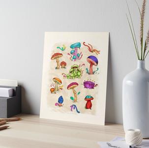 "Print en 4ply ""Hongos"" / Mushrooms 4ply print"