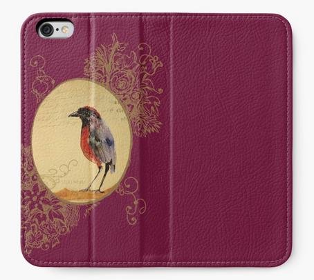 """Cartera para iPhone """"Ave 1"""" / Bird 1 iPhone Wallet"""