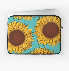 Funda para laptop de Girasol / Sunflower Laptop Sleeve