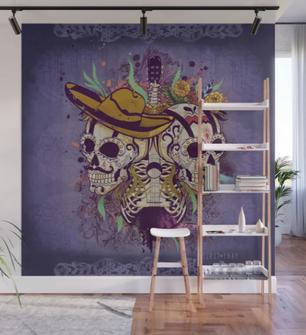 "Mural ""Día de muertos"" / Day of the dead Wall Mural"