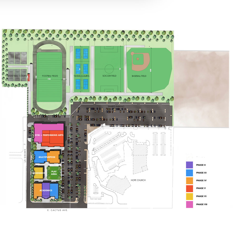 Schematic of campus of Christian academy in Las Vegas