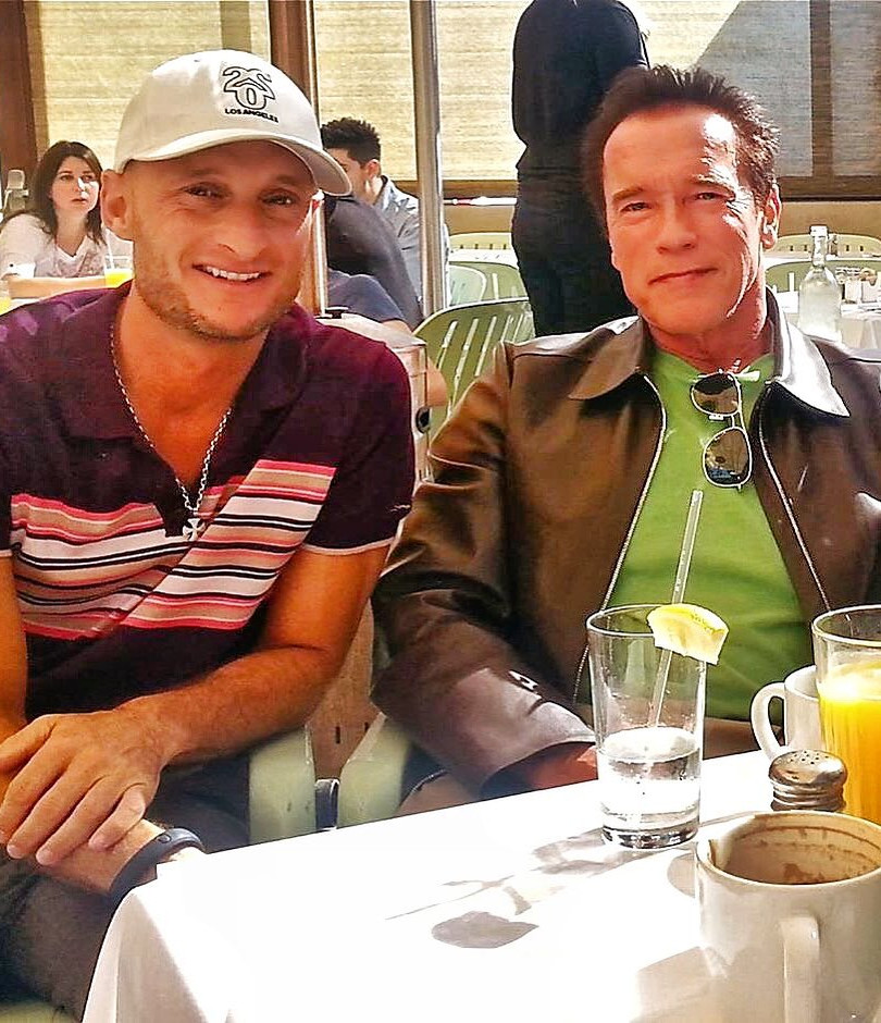 Arnold and I at Breakfast