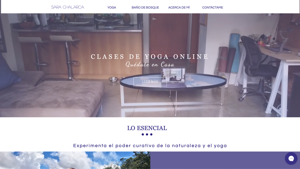 Personal Website for Sara Chalarca