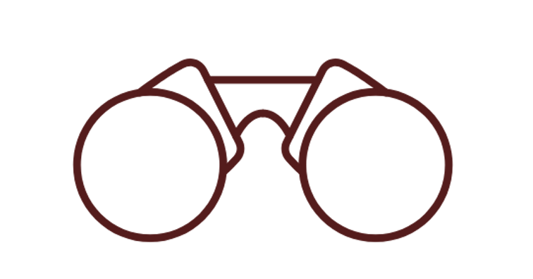 Line drawing of glasses, symbolizing the vision of Capstone Christian Academy, a private school in Las Vegas, NV