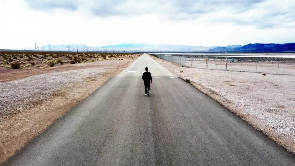 Drone video of Las Vegas Solar Farm