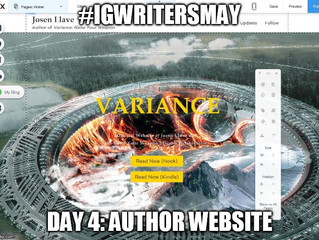 #IGWritersMay - Day 4 - Author Website
