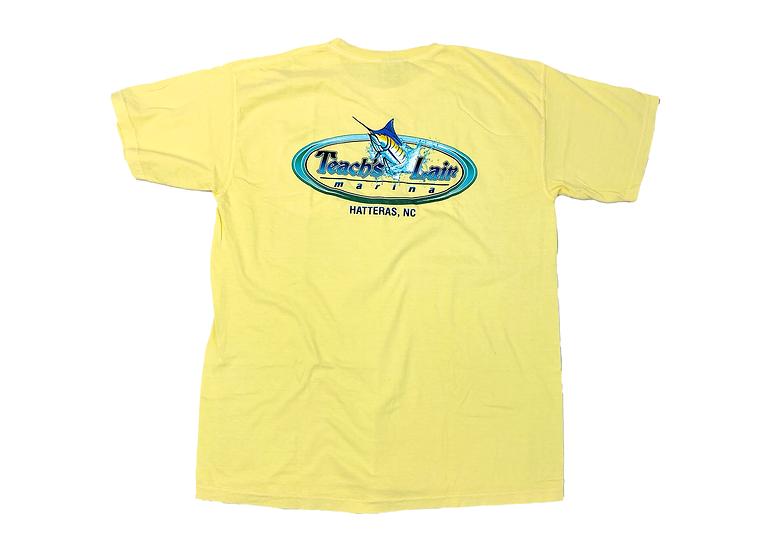 Teach's Lair Yellow T-shirt Comfort Colors Hatteras