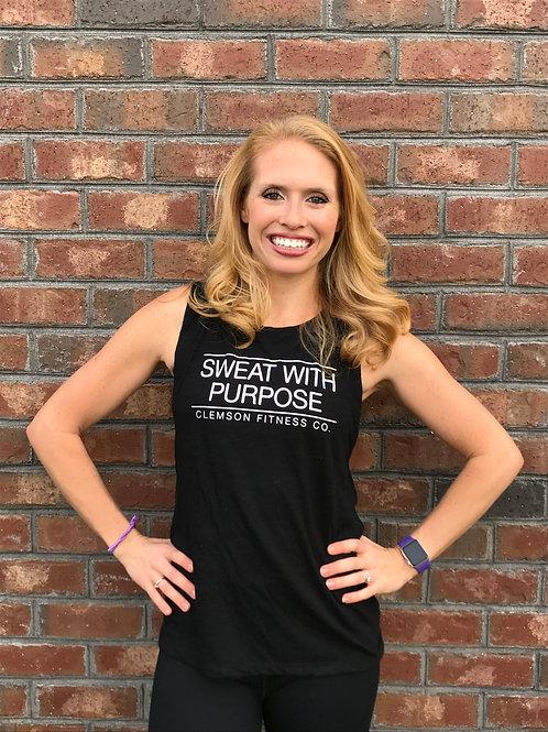 Sweat With Purpose Black Muscle Tank