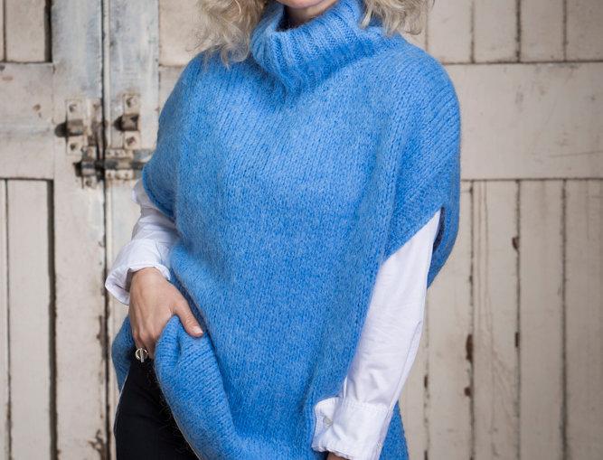 Celeste Blue Poncho