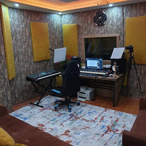 Akustik Kumaş Panel Stüdyo Akustiği 60x120 cm