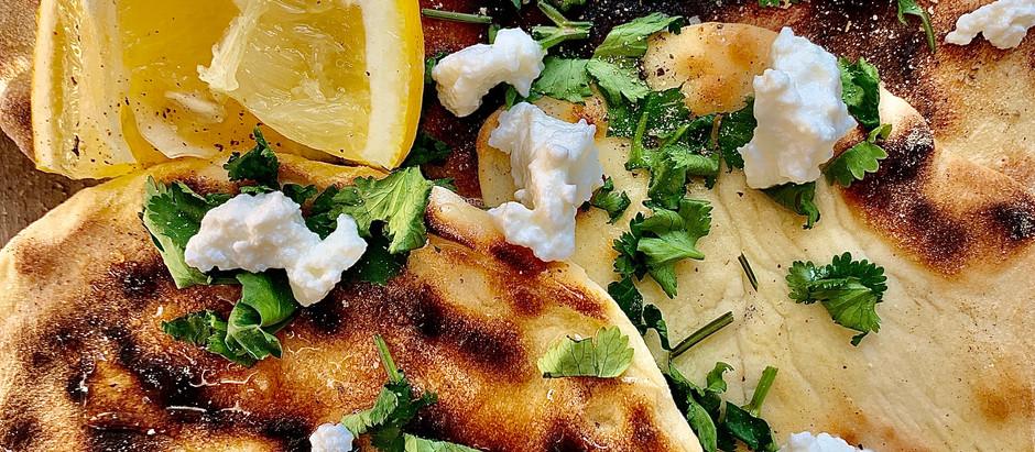 Flat bread sucrée-salé au Brocciu et au miel