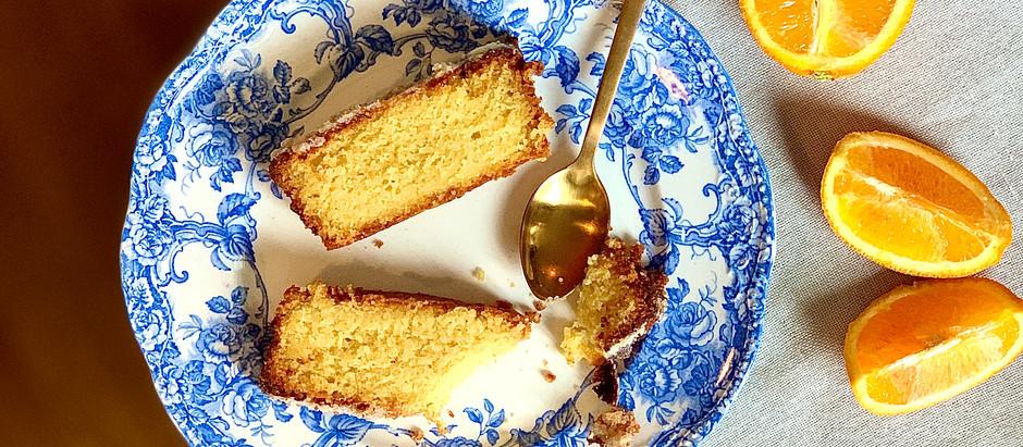 Le gâteau à l'orange et amandes