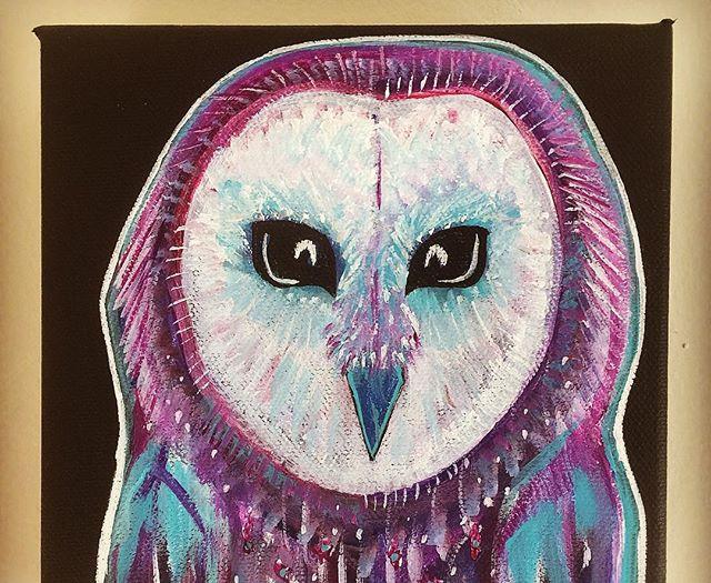 PURPLE BARN OWL