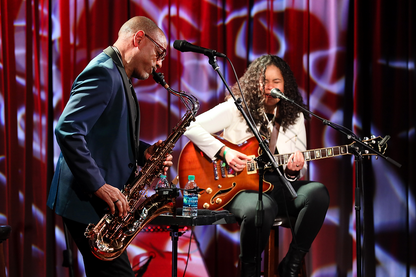 Kirk Whalum Andréa Lisa at the Grammy Museum 2020